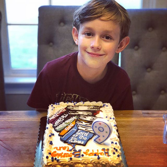 It's definitely birthday season in our house and this sweet child of ours just turned 9!! I still remember the day he was born so vividly that I cannot believe it was 9 years ago 😲💕 May his love for reading and learning never stop and may his kindness and compassion spread to those around him. 💕