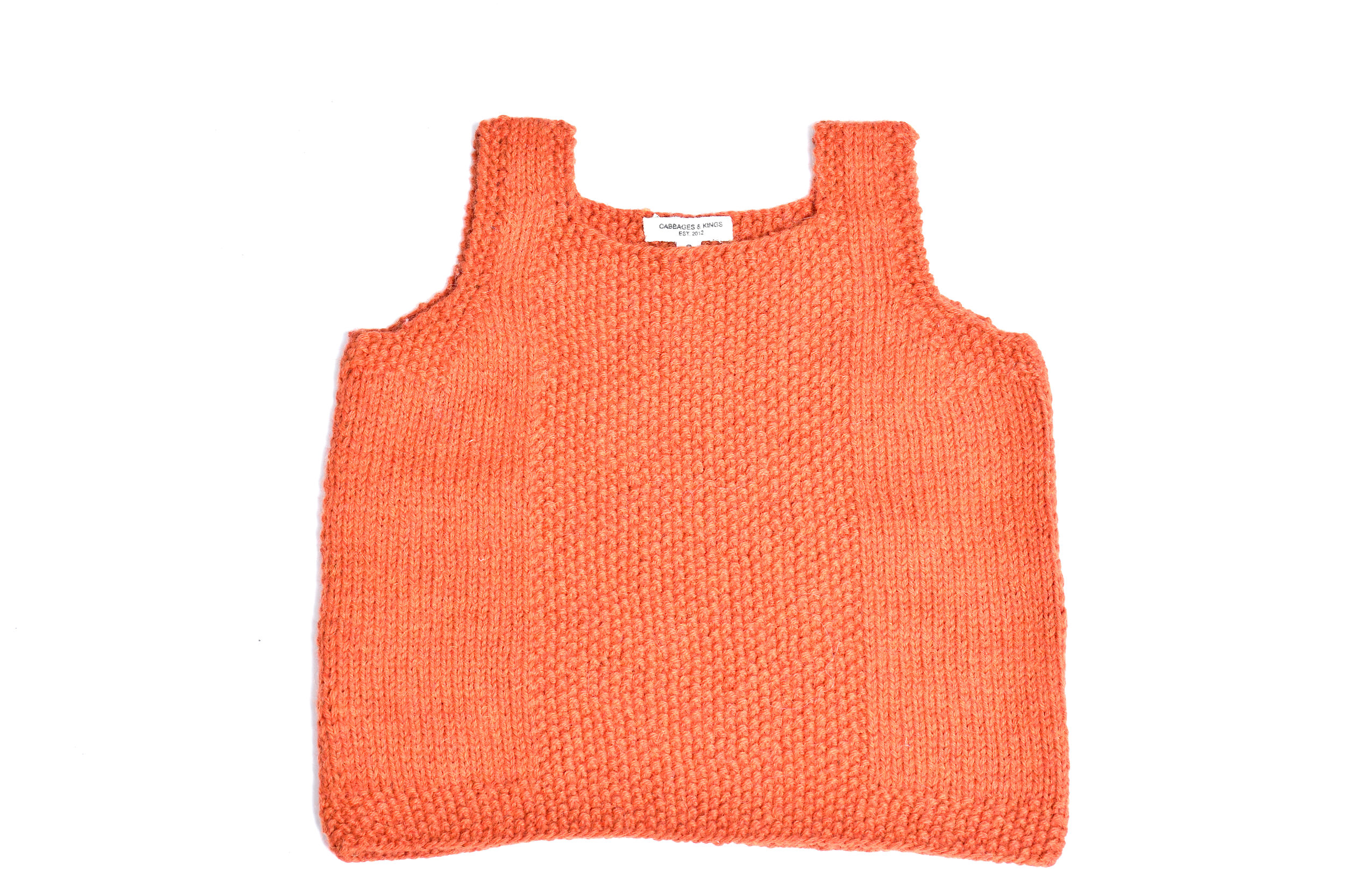 5c9f9a0a38 Knit Tank Vest  Rusty Orange — Cabbages   Kings NY