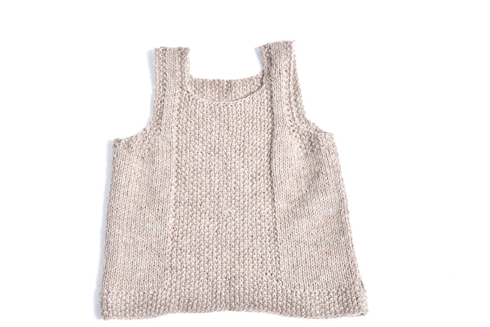 96bbb413e3 Knit Tank Vest  Oatmeal — Cabbages   Kings NY