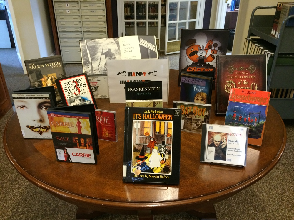 Halloween Display (organized by our Collections Services Librarian)