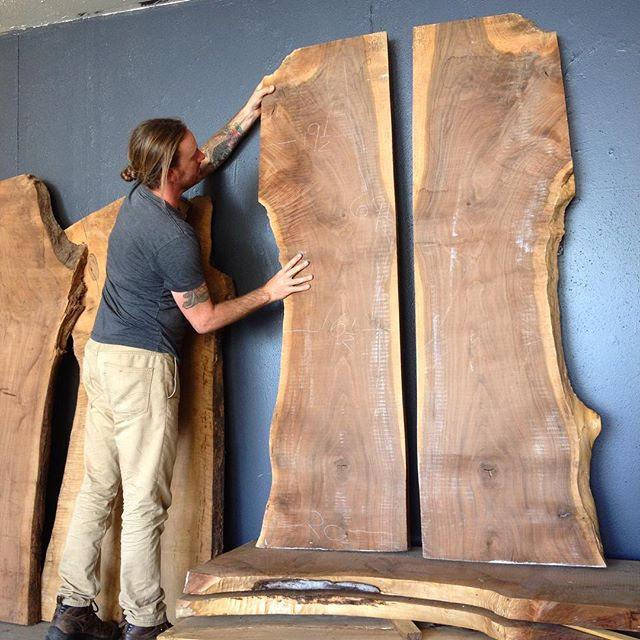 New additions to the slab inventory from Washington state via 1819 design labs. Stunning large walnut boards perfect for your new dinning table.