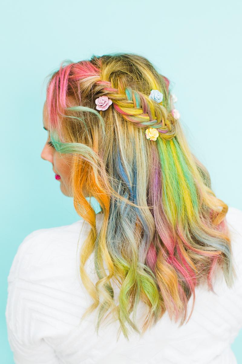 Hot Unicorn Hair With Liquid Hair Chalk Vita Perfetta