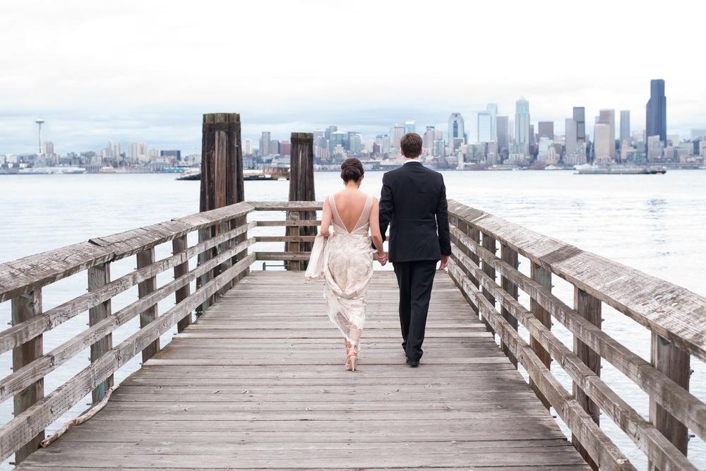 T H Alki Beach Wedding