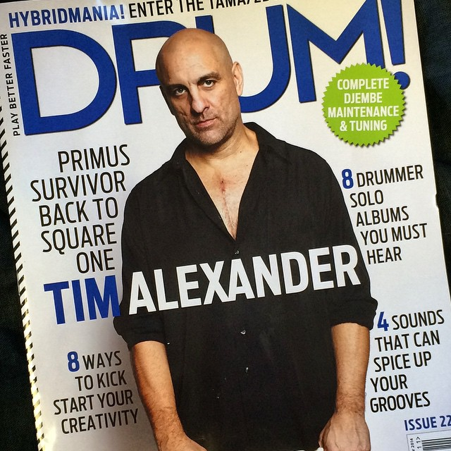ON THE COVER OF DRUM MAGAZINE NOV 2014.