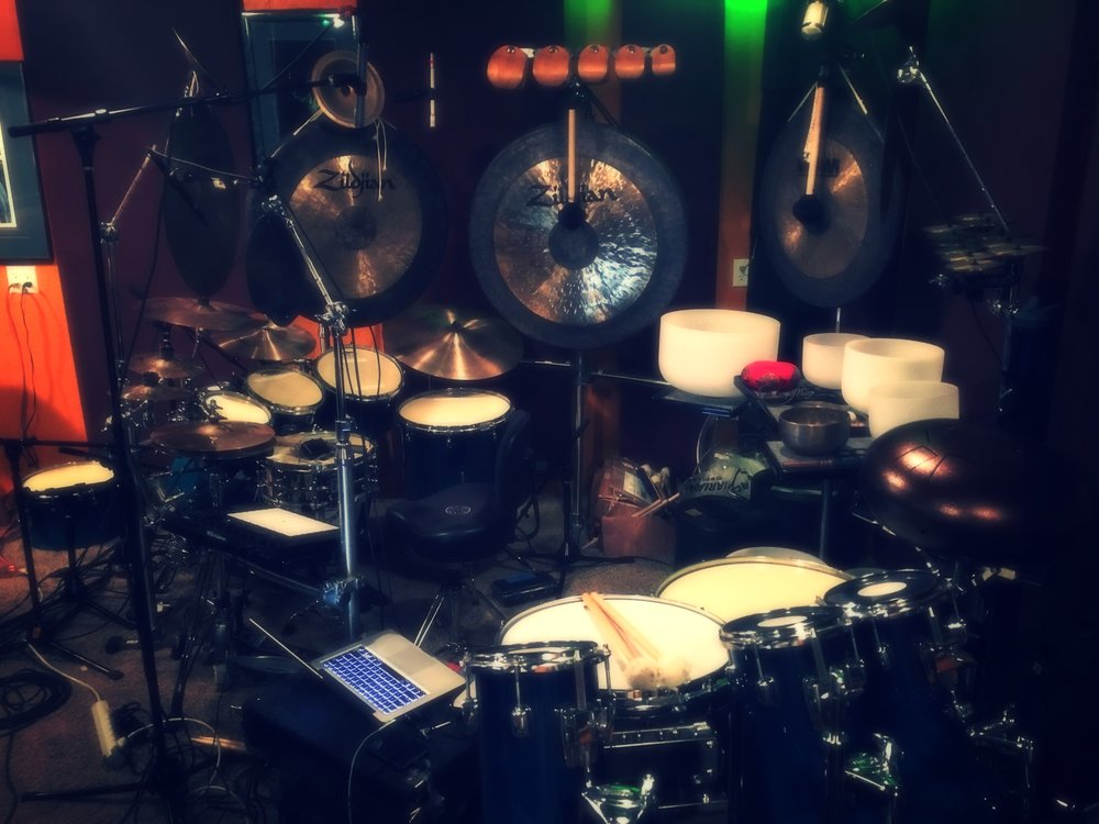 Here is my set I am using under the alias GINSENG DRUMMER in which I loop live percussion with noisy abstract music.  (not a drum clinic for all you drummers).