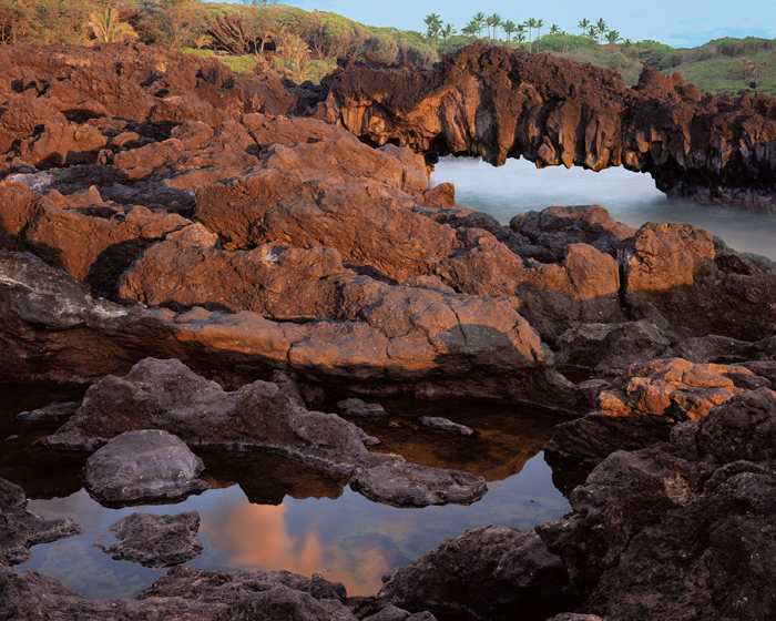 Lava Arch at Dawn, Waianapanapa State Park Beach, Hana; Maui, Hawaii.jpg