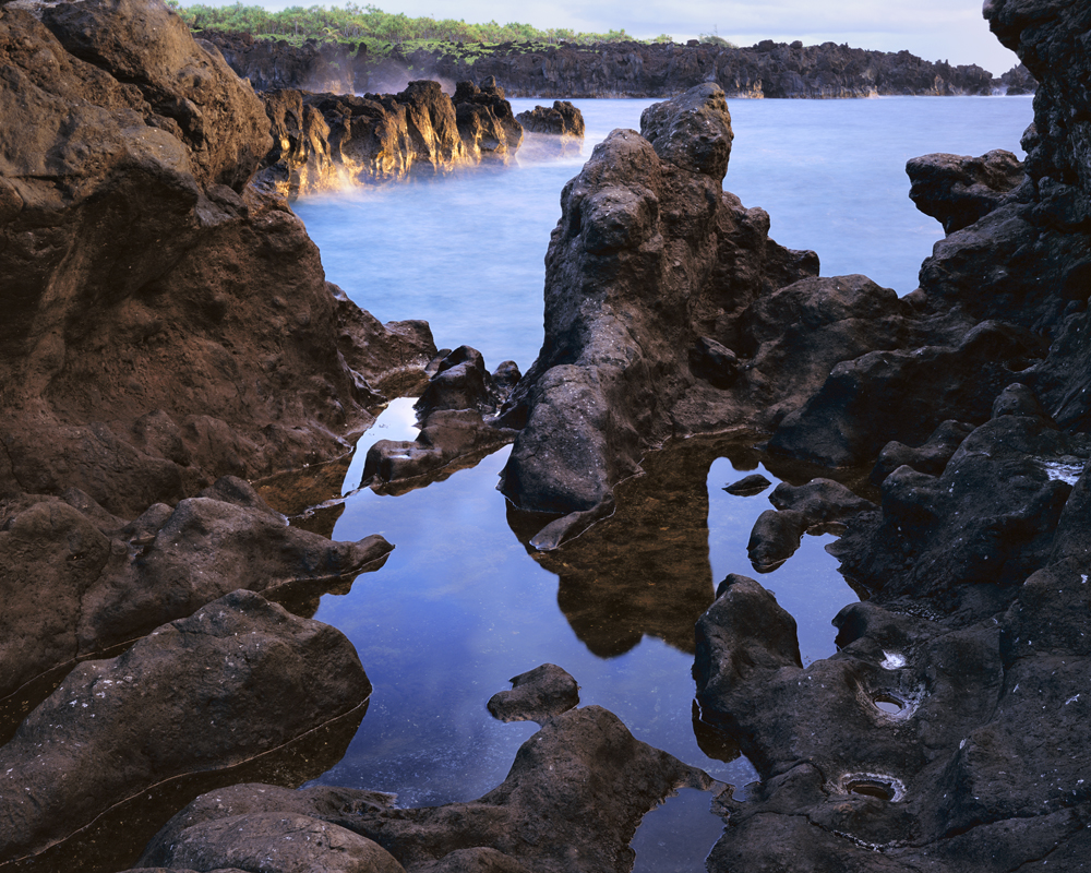 Hissing Pools at Dawn, Waianapanapa State Park Beach, Hana; Maui, Hawaii.jpg