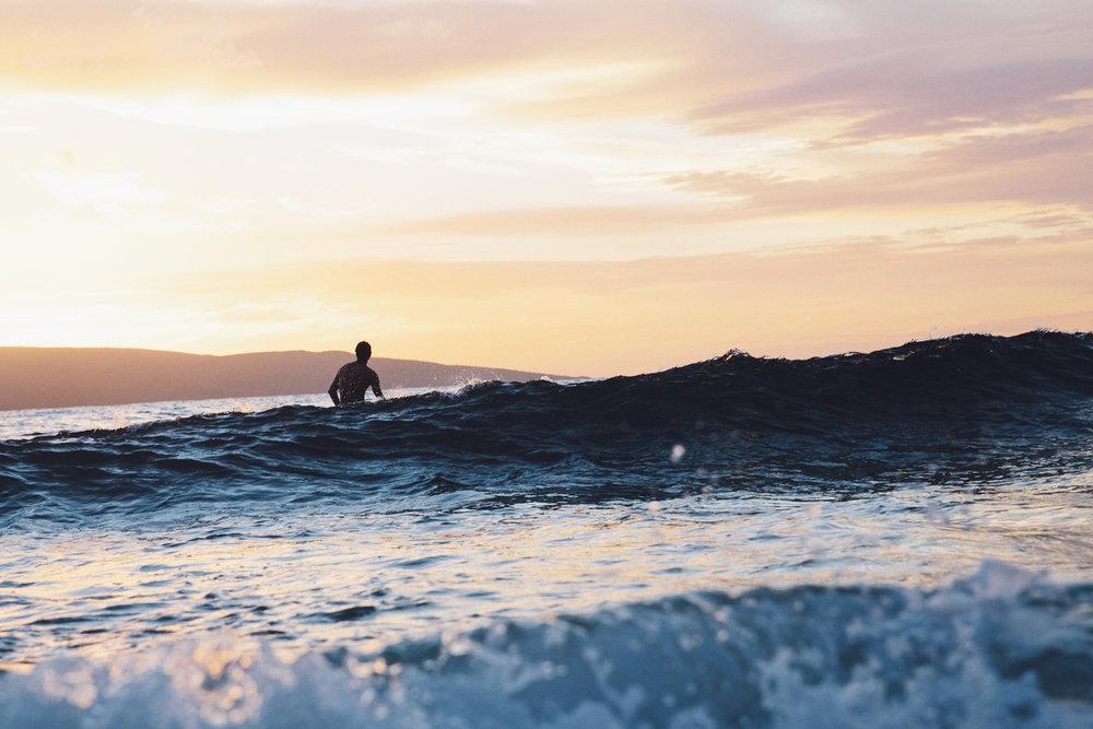 Sky Pierce in the water. -