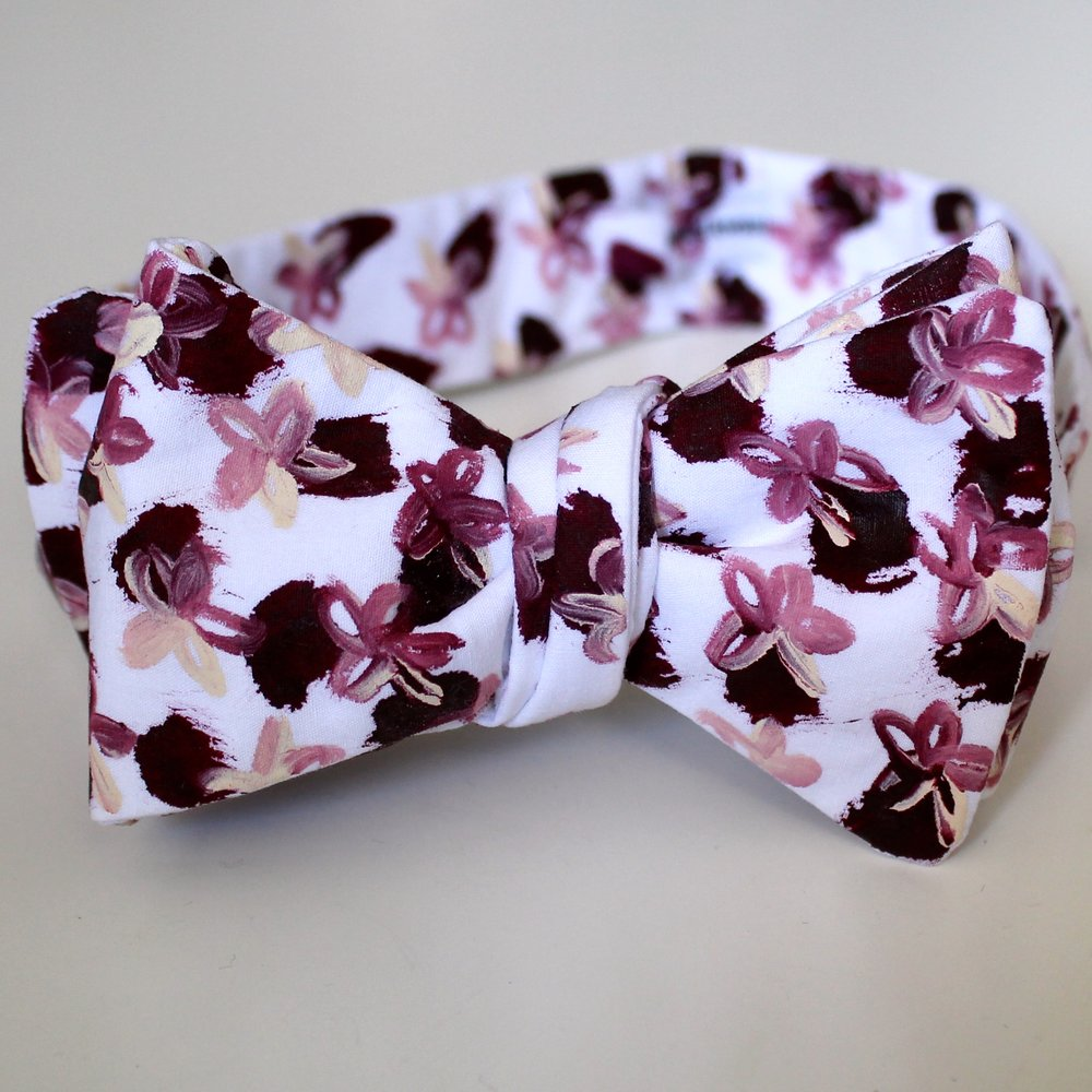 raspberries and cream edward kwan melbourne hand painted bow tie 1.JPG