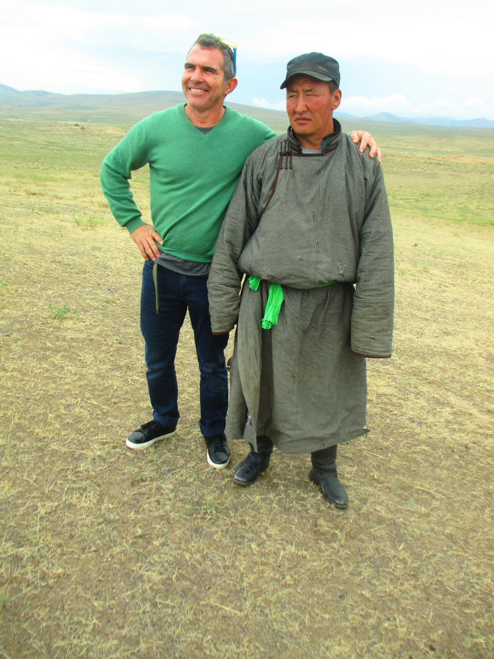 David with local herder