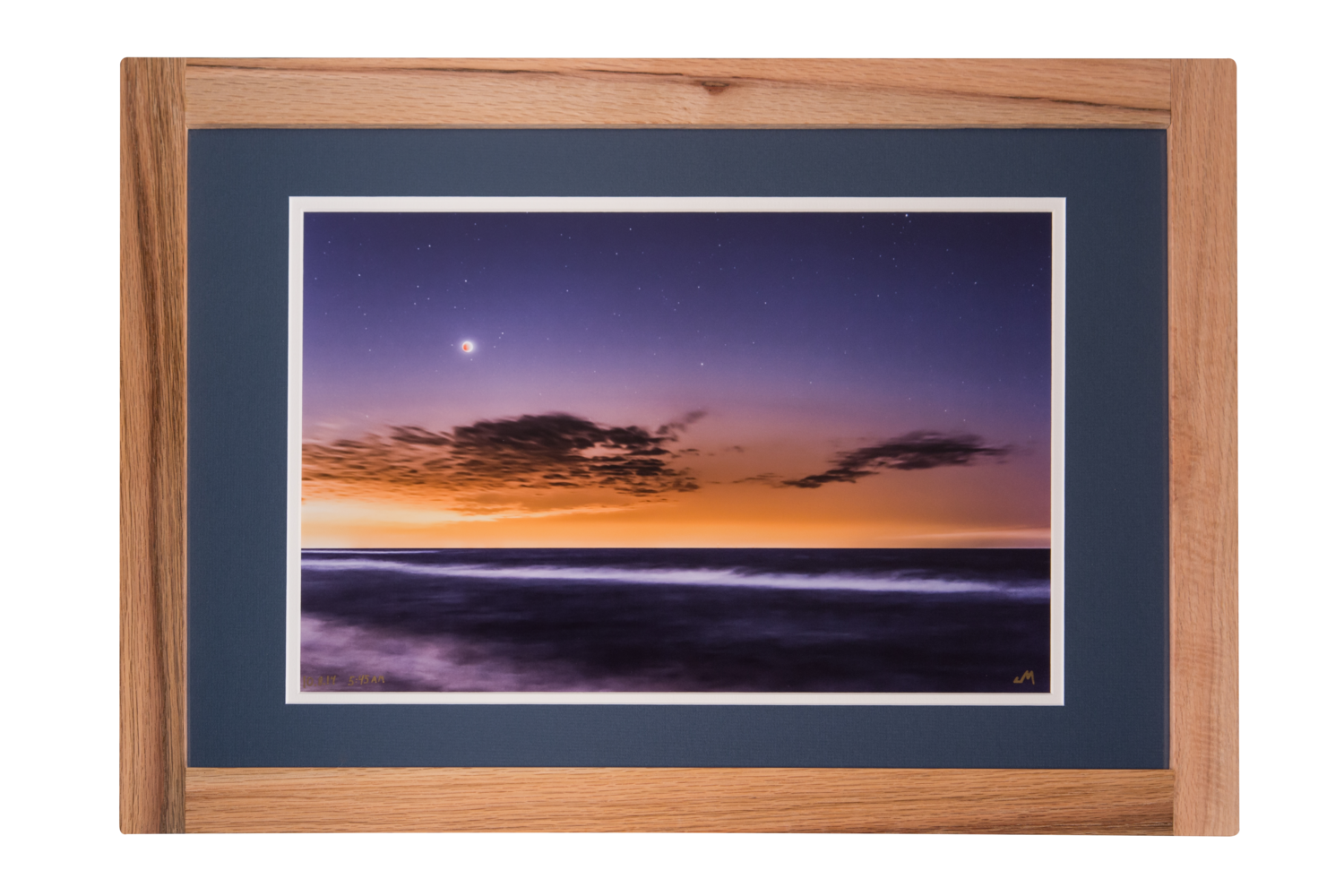 Blood Moon Eclipse 15x225 Hand Crafted Red Oak Frame