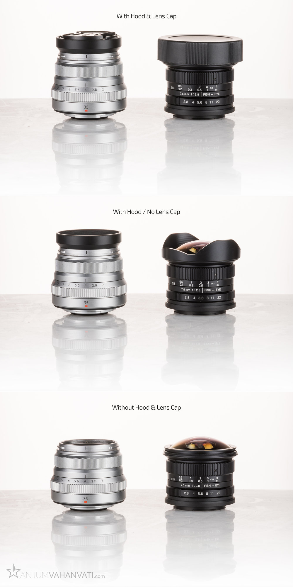 Size comparison with the only other lens I have, Fujinon 35mm f2 WR