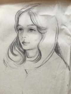 My mom's drawing of me before my haircut.