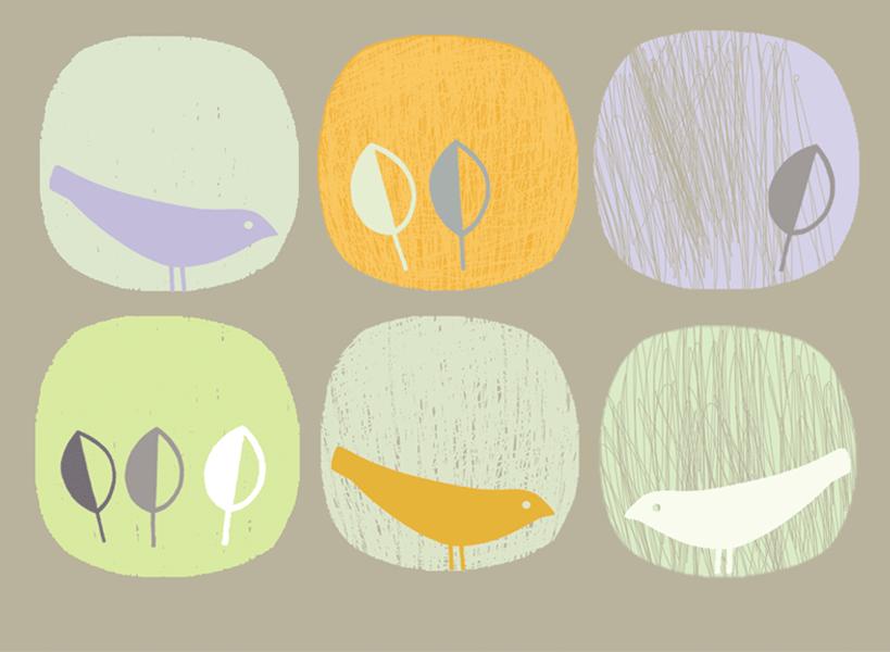 Rythmic Birds (sage)