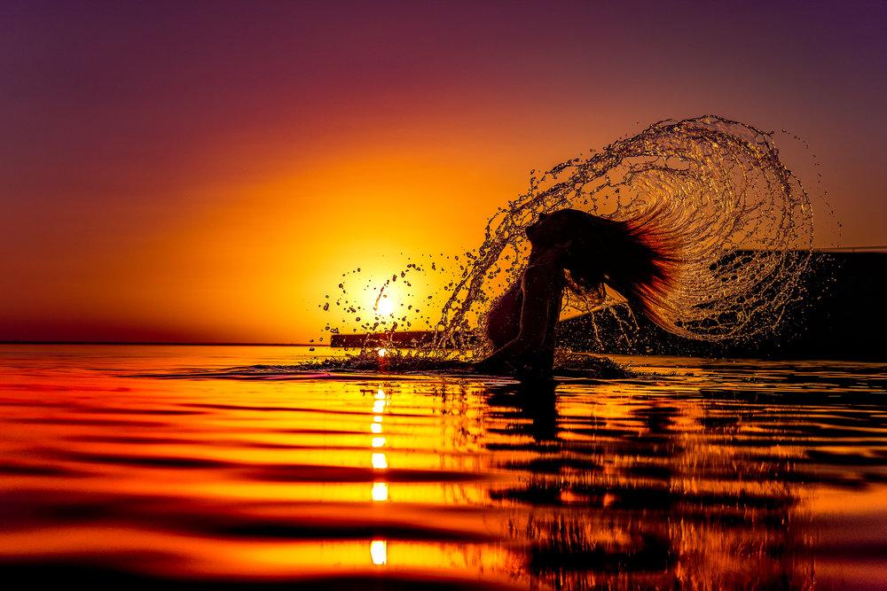 Crash through the surface. . .