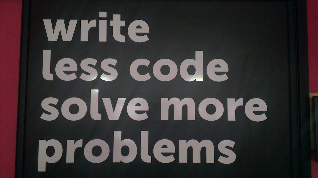 write_less_code_solve_more_problems