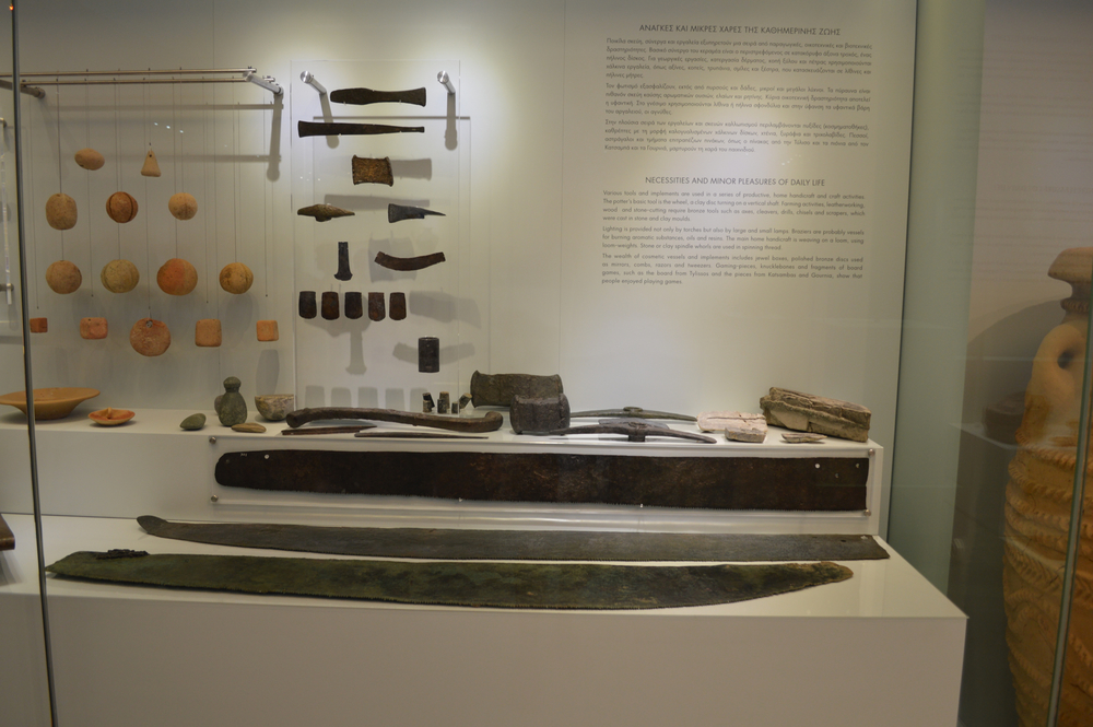 Hammers, chisels, saws, and other tools of Minoans.