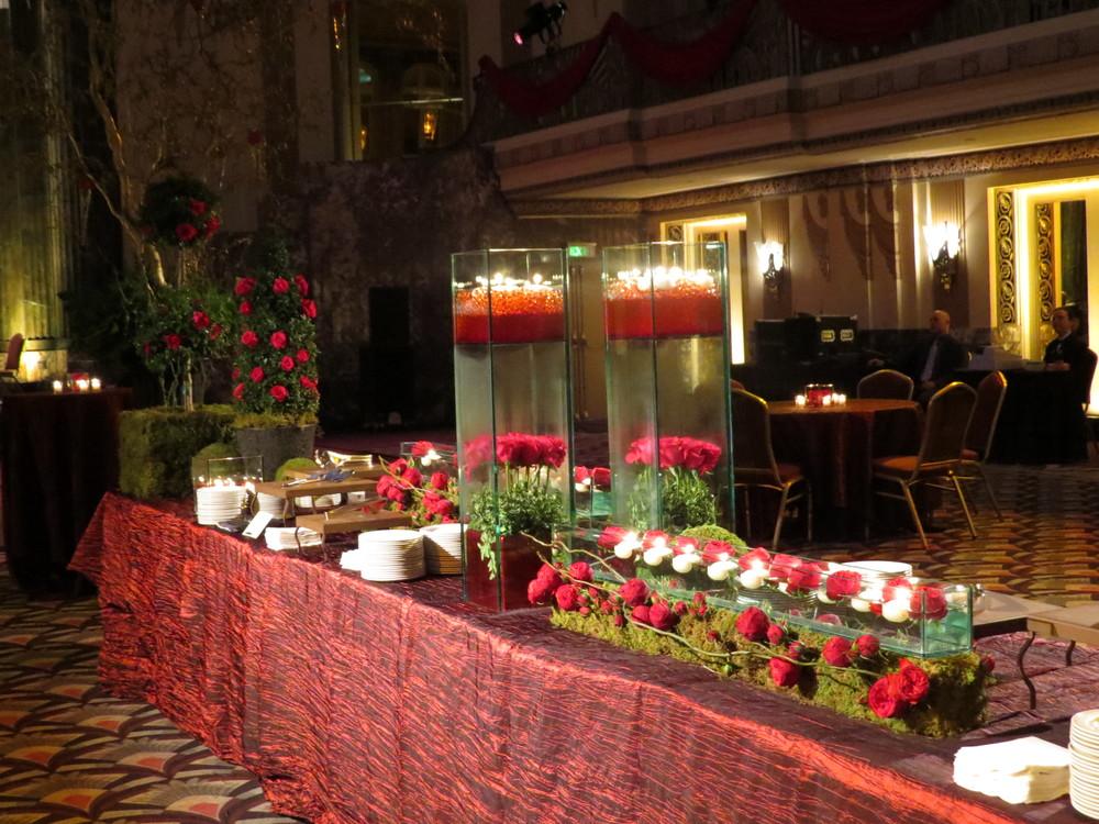 Night of the Rose (Cincinnati Opera ball 2013) Elaborate buffet display