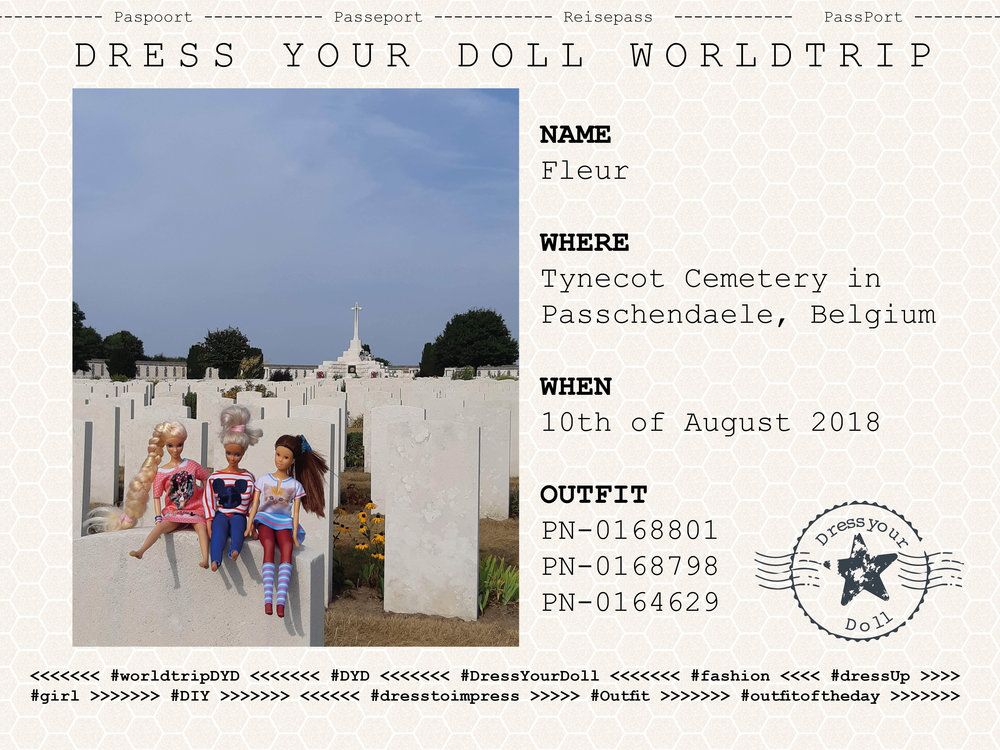 Fleur - Took her doll to Passchendaele for a day full of history.
