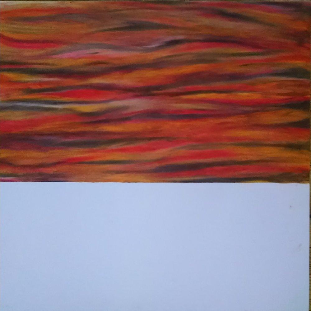 Adding oil pastel
