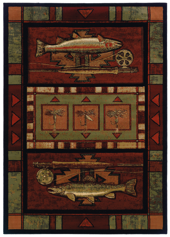 Rugs Rainbow Trout Cabin Rug Woodland Things