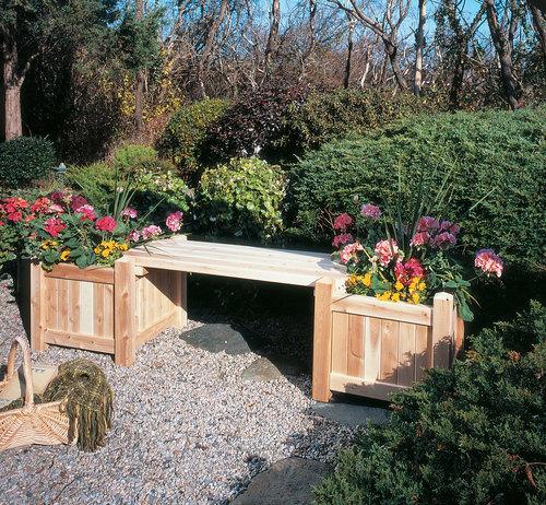 Outdoor Planter Bench Furniture garden deck patio porch planter bench woodland things deck patio porch planter bench workwithnaturefo