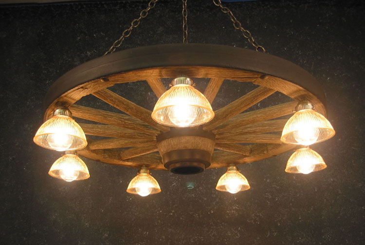Chandeliers U2014 Large Wagon Wheel Chandelier With Down Lights U2014 Woodland  Things