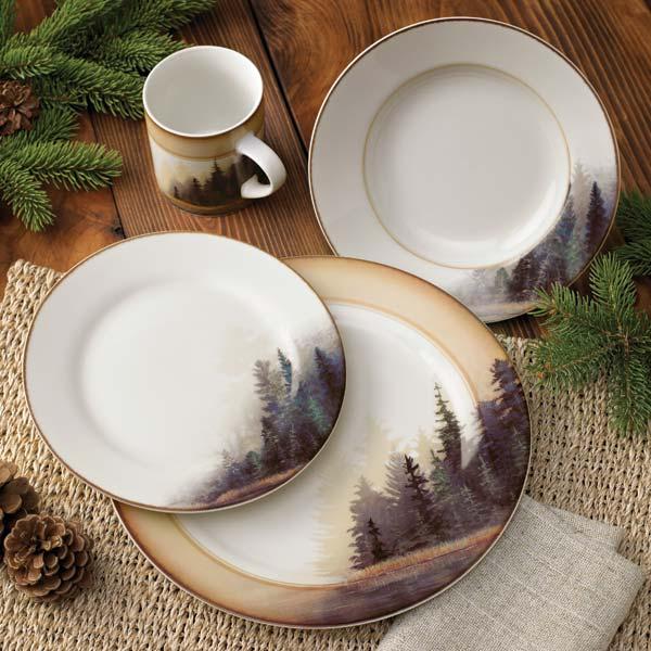 Dinnerware Set & Kitchen u2014 Misty Forest 16 pc. Dinnerware Set u2014 Woodland Things
