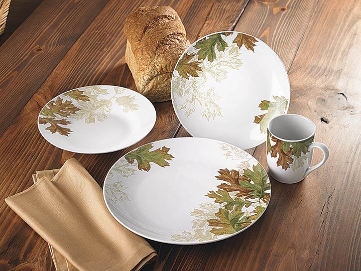 Kitchen — Autumn1 Leaves 16-Piece Dinnerware Set — Woodland Things