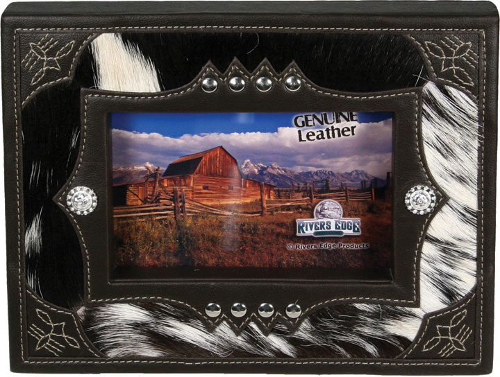 Frames Mirrors Western Cowhide And Leather Picture Frame