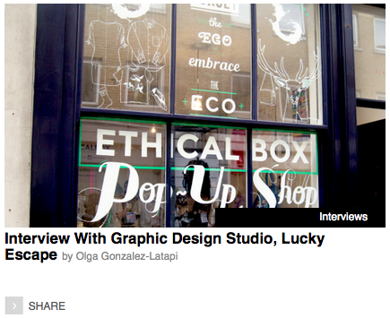 Interview With Graphic Design Studio, Lucky Escape