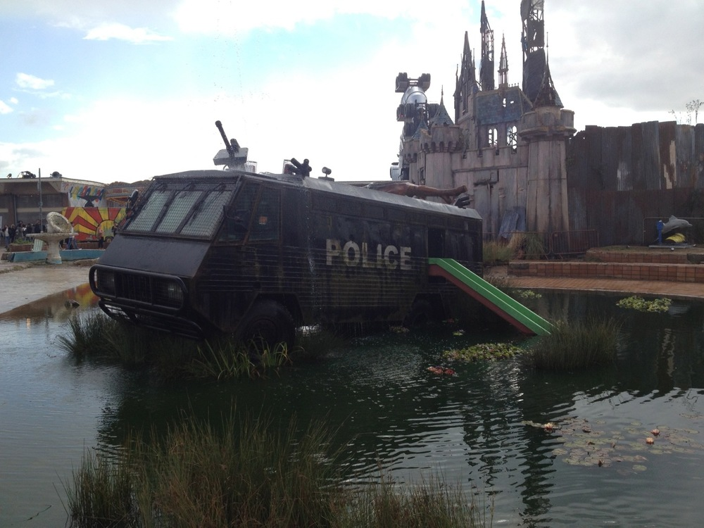 Riot Van fountain