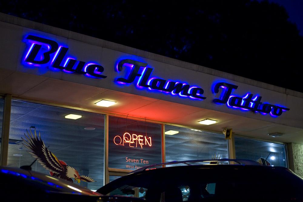 Blue Flame Tattoo