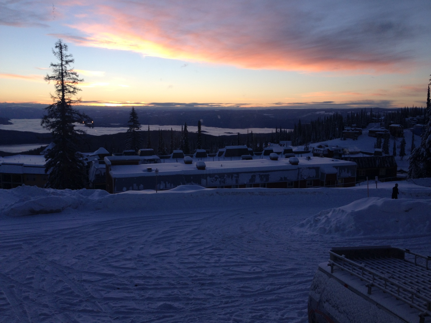 Calm race morning in Silver Star.