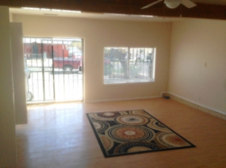 Common in Albuquerque, a garage converted into living space.