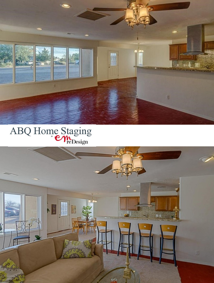Staged Rio Rancho Living  Before and After