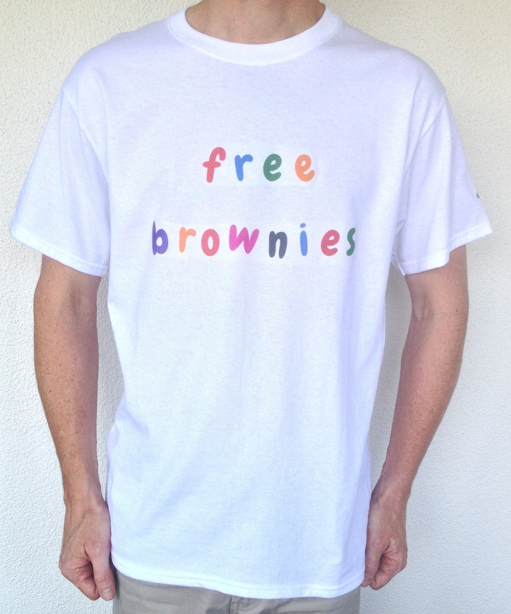 Click here to sign up for chance to win the world's first free brownies T-shirt.