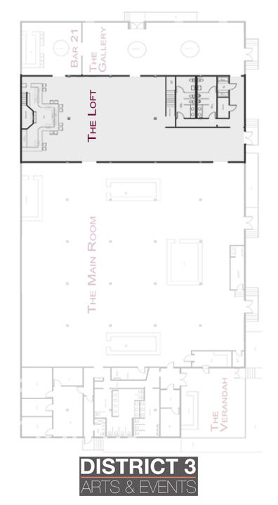 Floor plan highlighting The Loft (click to download).