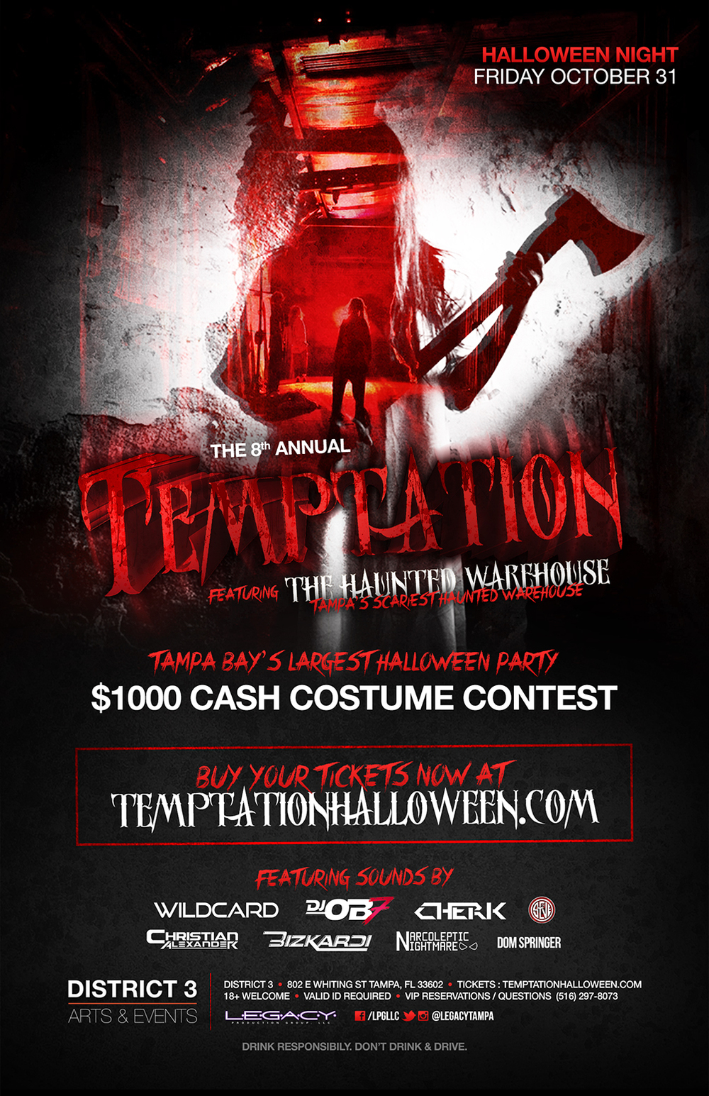The 8th Annual Temptation Featuring The Haunted Warehouse!   Tampa Bay's Largest Halloween Party    Tickets    Facebook Event