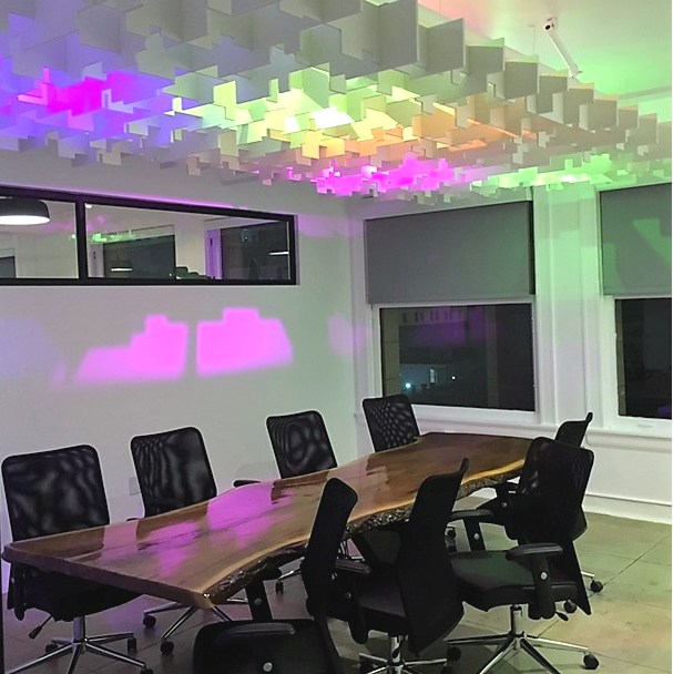 The Collection 527 Event space meeting room with multi color lighting