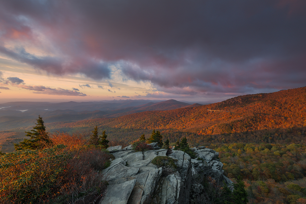 Dawn at Rough Ridge, Blue Ridge Parkway, North Carolina