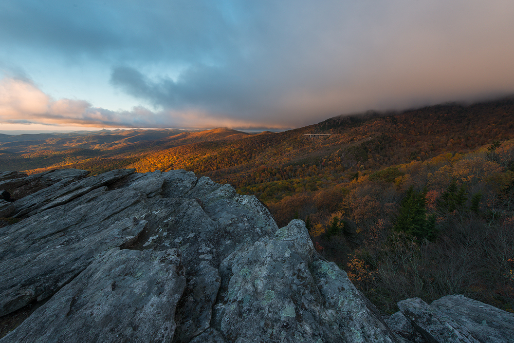 Morning Light at Rough Ridge, Blue Ridge Parkway, North Carolina