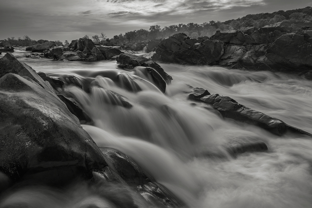 Early morning along the Potomac River at Great Falls National Park, Virginia