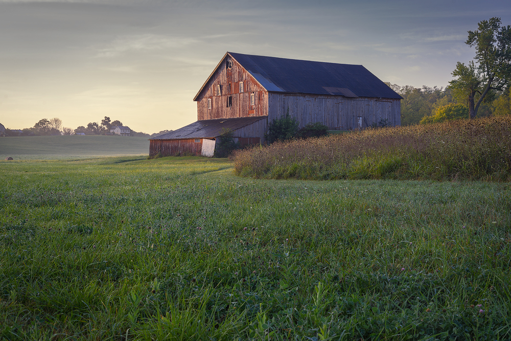 First light on the Bicentennial Barn near Shepherdstown, WV.