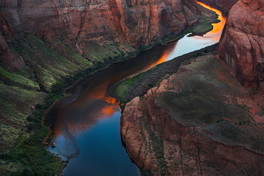 Horseshoe Bend Sunrise, Glen Canyon, AZ