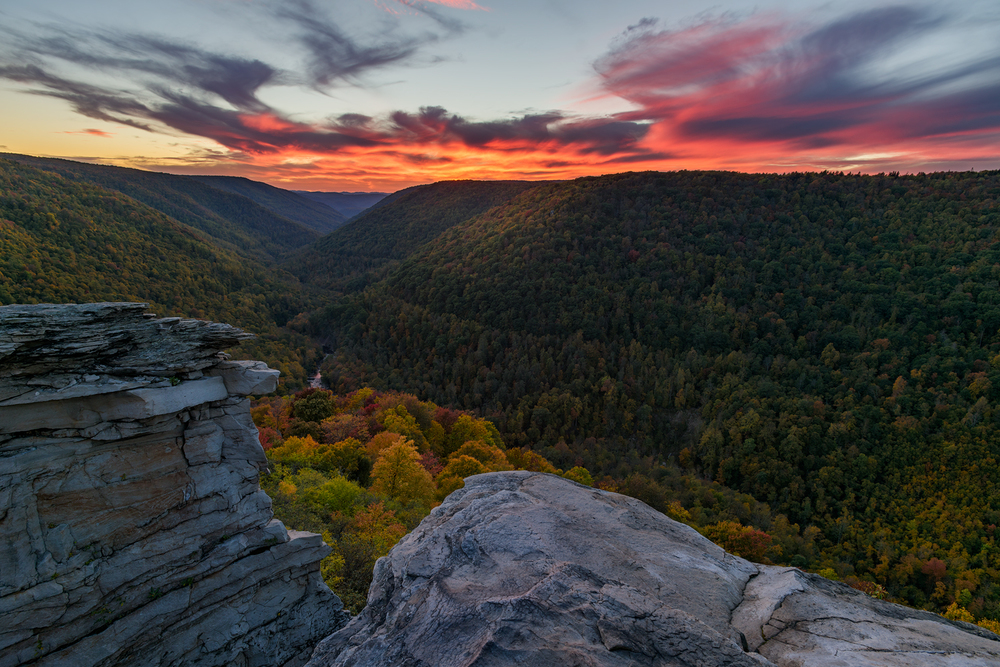 Sunset at Lindy Point, Black Water Falls State Park, WV