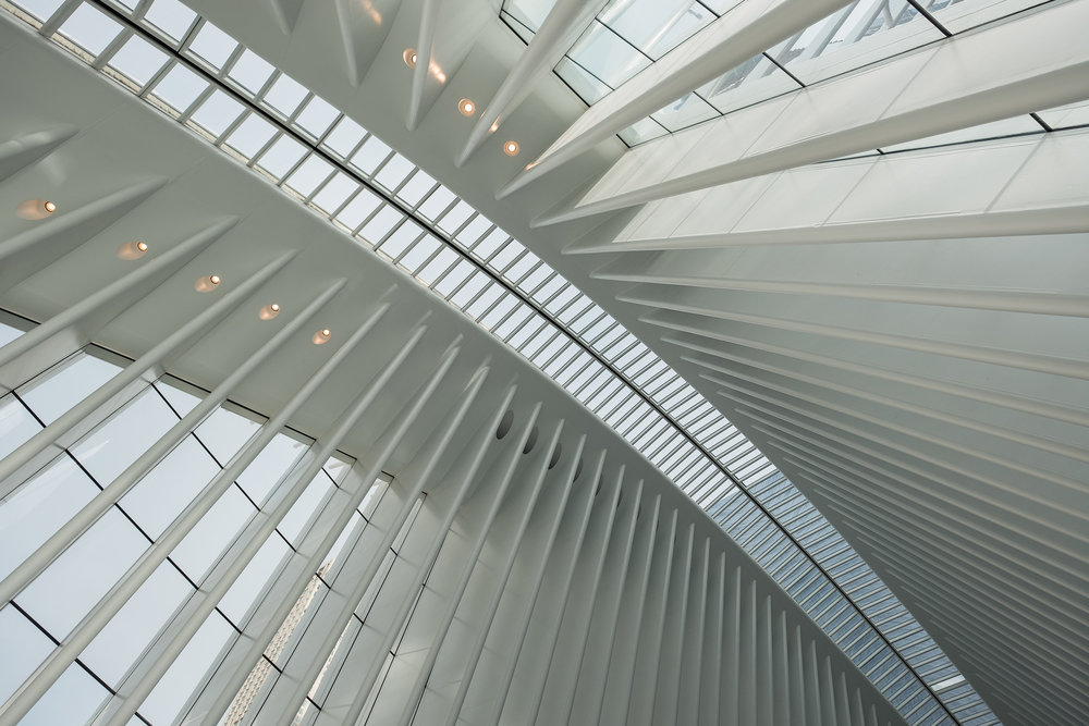 Inside the Oculus at The World Trade Center. Astia Film Emulation.