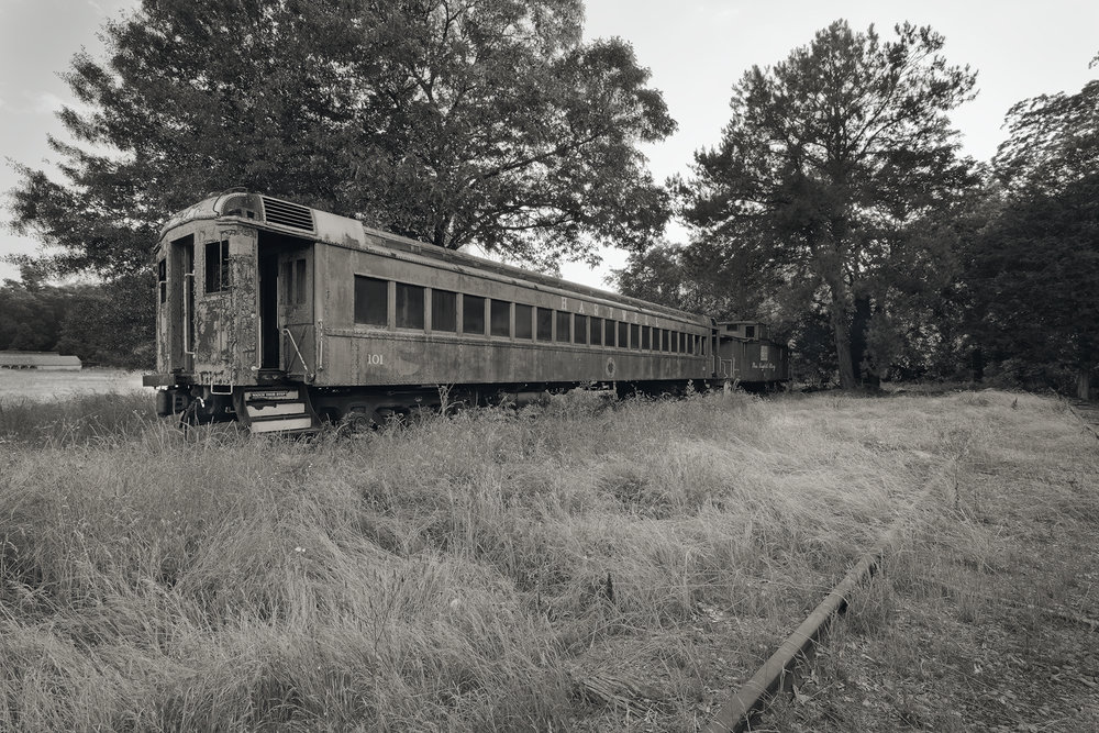 Long Forgotten Rail Cars • Hartwell, Georgia. Fuji X-Pro 2 and a Fujinon XF10-24mm f4 OIS at 10mm.Image exposed at ISO 200 at f11 for 2 seconds.