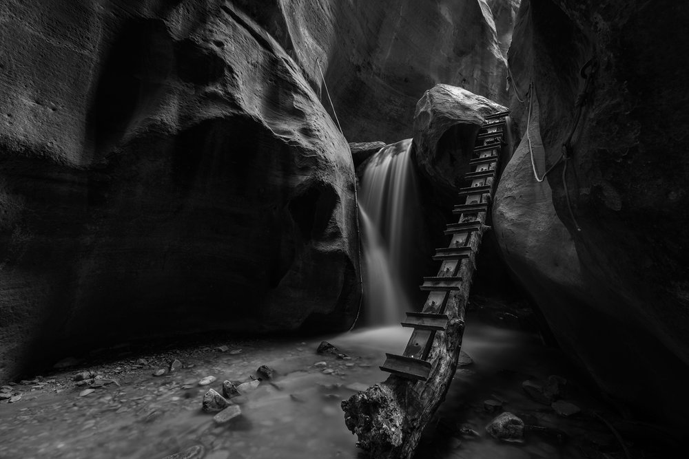 Lower Falls • Kanarra Creek, Kanarraville, Utah. Fuji X-T2 and a Fujinon XF10-24mm OIS f4 at 10mm. Image exposed at ISO 200 at f8 for 20 seconds.