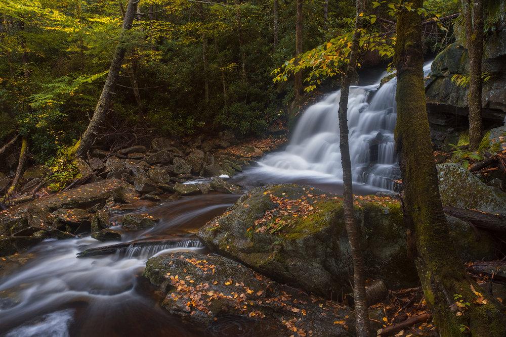 Elakala No 2 • Shay's Run, Black Water Falls State Park, West Virginia. Fuji X-T2 and a Fujinon XF10-24mm at 14mm. Image exposed at ISO 200 at f11 for 8 seconds.